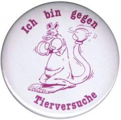 """Zum 37mm Magnet-Button """"Ich bin gegen Tierversuche"""" für 2,50 € gehen."""