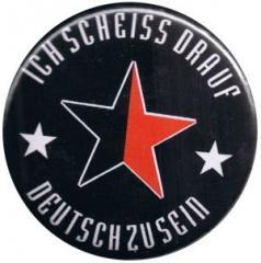 """Zum 37mm Magnet-Button """"Ich scheiß drauf deutsch zu sein (schwarz/roter Stern)"""" für 2,50 € gehen."""