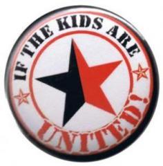 """Zum 37mm Magnet-Button """"If the kids are united (schwarz/roter Stern)"""" für 2,44 € gehen."""