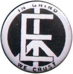 """Zum 37mm Magnet-Button """"In Grind We Crust - Equality"""" für 2,44 € gehen."""