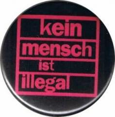 """Zum 37mm Magnet-Button """"Kein Mensch ist illegal (pink)"""" für 2,50 € gehen."""