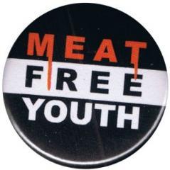 """Zum 37mm Magnet-Button """"Meat Free Youth"""" für 2,50 € gehen."""