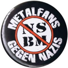 """Zum 37mm Magnet-Button """"Metalfans gegen Nazis (NSBM)"""" für 2,50 € gehen."""