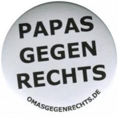 """Zum 37mm Magnet-Button """"Papas gegen Rechts"""" für 2,44 € gehen."""