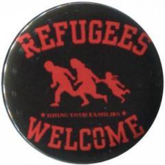"""Zum 37mm Magnet-Button """"Refugees welcome (rot)"""" für 2,50 € gehen."""