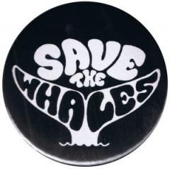 """Zum 37mm Magnet-Button """"Save the Whales"""" für 2,50 € gehen."""