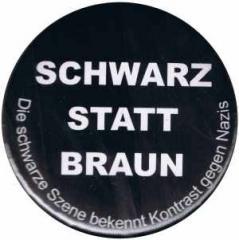 """Zum 37mm Magnet-Button """"Schwarz statt Braun"""" für 2,50 € gehen."""