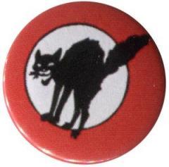 """Zum 37mm Magnet-Button """"Schwarze Katze (mit Kreis)"""" für 2,44 € gehen."""