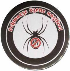 """Zum 37mm Magnet-Button """"Schwarze Szene Nazifrei - Spinne"""" für 3,00 € gehen."""