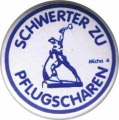 """Zum 37mm Magnet-Button """"Schwerter zu Pflugscharen"""" für 2,50 € gehen."""