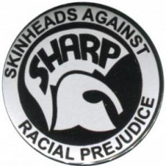 """Zum 37mm Magnet-Button """"Sharp - Skinheads against Racial Prejudice"""" für 2,50 € gehen."""