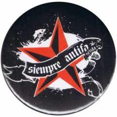 """Zum 37mm Magnet-Button """"Siempre Antifascista"""" für 2,50 € gehen."""