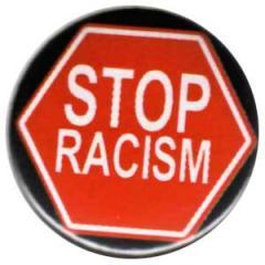 """Zum 37mm Magnet-Button """"Stop Racism"""" für 2,44 € gehen."""