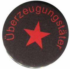 """Zum 37mm Magnet-Button """"Überzeugungstäter roter Stern"""" für 2,50 € gehen."""