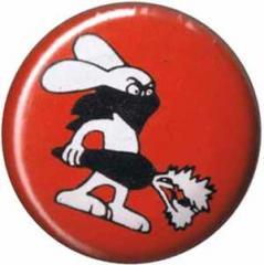 """Zum 37mm Magnet-Button """"Vegan Rabbit - Red"""" für 2,44 € gehen."""
