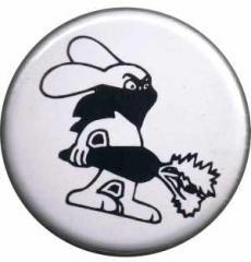 """Zum 37mm Magnet-Button """"Vegan Rabbit - White"""" für 2,44 € gehen."""