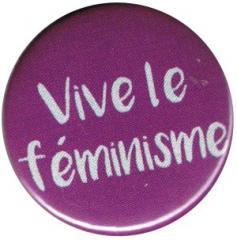 """Zum 37mm Magnet-Button """"Vive le feminisme"""" für 2,50 € gehen."""