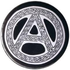 """Zum 50mm Magnet-Button """"Anarchie - Tribal (schwarz)"""" für 2,92 € gehen."""