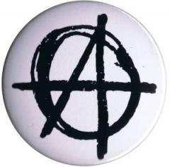 """Zum 50mm Magnet-Button """"Anarchie (weiß)"""" für 3,00 € gehen."""