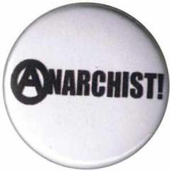 """Zum 50mm Magnet-Button """"Anarchist! (schwarz/weiß)"""" für 3,00 € gehen."""