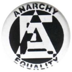 """Zum 50mm Magnet-Button """"Anarchy/Equality"""" für 3,00 € gehen."""