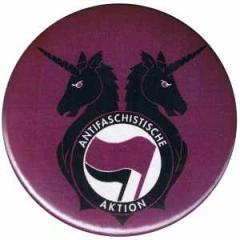 """Zum 50mm Magnet-Button """"Antifa Einhorn Brigade"""" für 2,92 € gehen."""