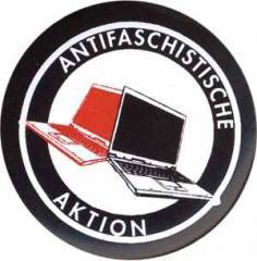 """Zum 50mm Magnet-Button """"Antifaschistische Aktion (Notebooks)"""" für 3,12 € gehen."""