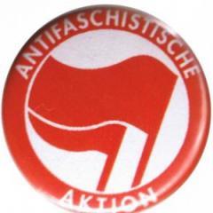 """Zum 50mm Magnet-Button """"Antifaschistische Aktion (rot/rot)"""" für 3,00 € gehen."""