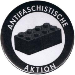 """Zum 50mm Magnet-Button """"Antifaschistische Aktion - schwarzer Block"""" für 3,00 € gehen."""