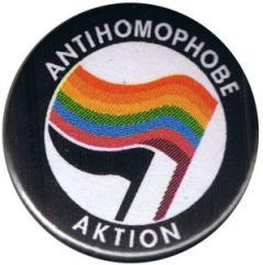 """Zum 50mm Magnet-Button """"Antihomophobe Aktion"""" für 2,92 € gehen."""