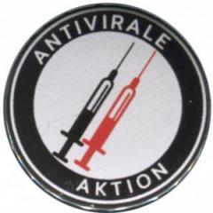 """Zum 50mm Magnet-Button """"Antivirale Aktion - Spritzen"""" für 3,00 € gehen."""