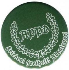 """Zum 50mm Magnet-Button """"APPD Ährenkranz Frieden! Freiheit! Abenteuer! (grün)"""" für 3,00 € gehen."""