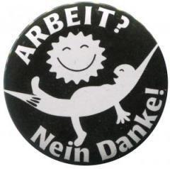 """Zum 50mm Magnet-Button """"Arbeit? Nein Danke! (Hängematte)"""" für 2,92 € gehen."""