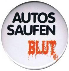 """Zum 50mm Magnet-Button """"Autos saufen Blut"""" für 3,00 € gehen."""