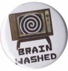 """Zum 50mm Magnet-Button """"Brain washed"""" für 3,00 € gehen."""