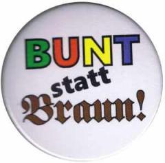 """Zum 50mm Magnet-Button """"Bunt statt braun"""" für 3,00 € gehen."""