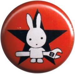 """Zum 50mm Magnet-Button """"Direct Action Hase - Stern (rot)"""" für 3,00 € gehen."""