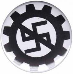 """Zum 50mm Magnet-Button """"EBM gegen Nazis"""" für 3,00 € gehen."""