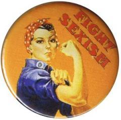 """Zum 50mm Magnet-Button """"Fight sexism"""" für 2,92 € gehen."""