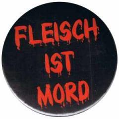 """Zum 50mm Magnet-Button """"Fleisch ist Mord"""" für 3,00 € gehen."""