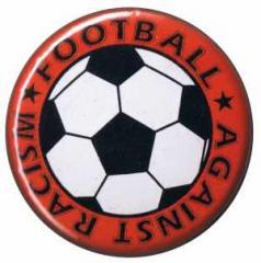 """Zum 50mm Magnet-Button """"Football against racism (rot)"""" für 2,92 € gehen."""
