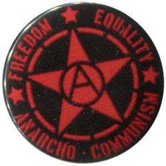 """Zum 50mm Magnet-Button """"Freedom - Equality - Anarcho - Communism"""" für 2,92 € gehen."""