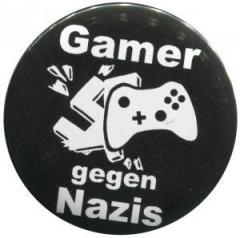 """Zum 50mm Magnet-Button """"Gamer gegen Nazis"""" für 2,92 € gehen."""