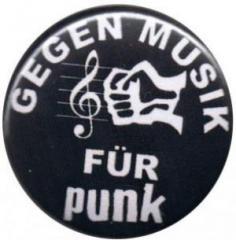 """Zum 50mm Magnet-Button """"Gegen Musik - für Punk"""" für 3,00 € gehen."""