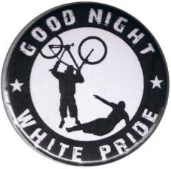 """Zum 50mm Magnet-Button """"Good night white pride (Fahrrad)"""" für 3,00 € gehen."""