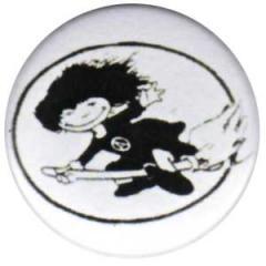 """Zum 50mm Magnet-Button """"Hexe im Kreis"""" für 3,00 € gehen."""