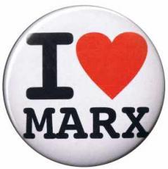 """Zum 50mm Magnet-Button """"I love Marx"""" für 3,00 € gehen."""