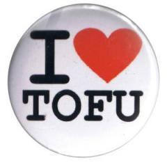 """Zum 50mm Magnet-Button """"I love Tofu"""" für 2,92 € gehen."""