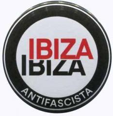 """Zum 50mm Magnet-Button """"Ibiza Ibiza Antifascista (Schrift)"""" für 2,92 € gehen."""