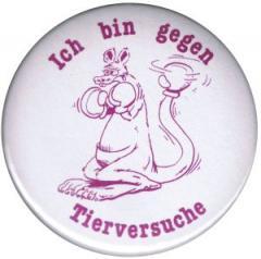 """Zum 50mm Magnet-Button """"Ich bin gegen Tierversuche"""" für 2,92 € gehen."""